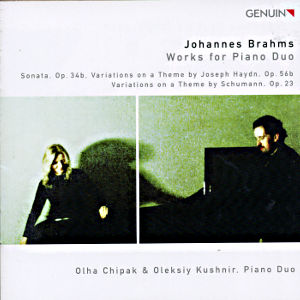 Johannes Brahms Works for Piano Duo / Genuin
