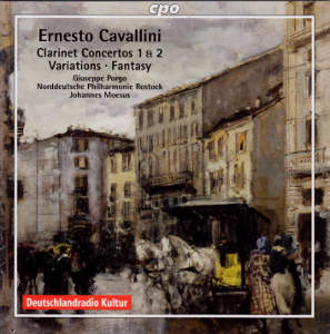 Ernesto Cavallini Works for Clarinet & Orchestra / cpo