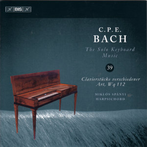 C.P.E. Bach, The Solo Keyboard Music 39 / BIS