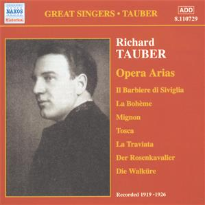 Great Singers • Tauber Opera Arias, Volume 1 / Naxos