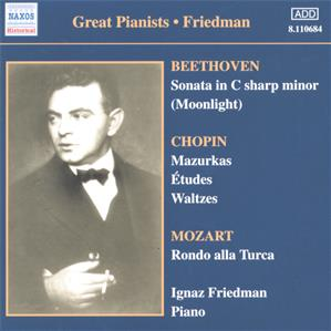 Great Pianists – Friedman<br />Complete Recordings Vol. 1