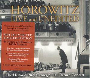 Horowitz Live And Unedited - The Historic 1965 Carnegie Hall Return Concert