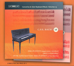 C.Ph.E. Bach, Concertos & Solo Keyboard Music Volume 15 / BIS