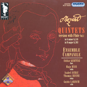 W.A. Mozart Quintets with Flute Vol. 1 Contemporary Arrangements of String Quintets / Hungaroton
