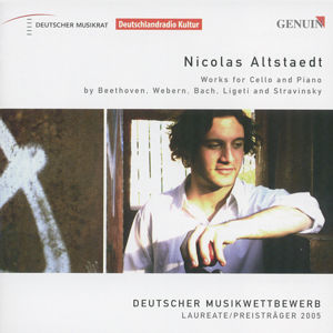 Nicolas Altstaedt<br />Works for Cello and Piano by Beethoven, Webern, Bach, Ligeti and Stravinsky