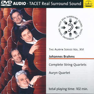 The Auryn Series Vol. XVI, Johannes Brahms – Complete String Quartets / Tacet