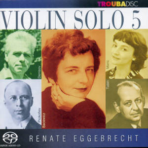 Violin solo Vol. 5, Renate Eggebrecht / Troubadisc